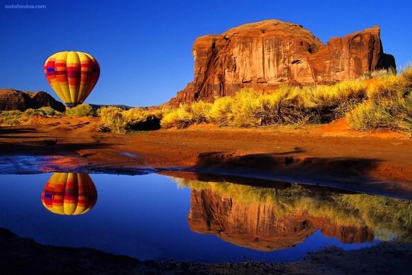 Globo en el desierto