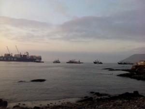 Postal: Vista del puerto