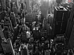 Postal: La ciudad de Nueva York desde al aire
