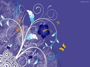 Postal: Dibujo floral