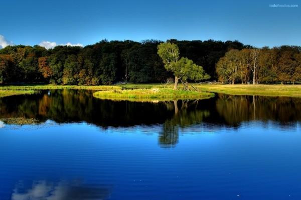 Un lago en calma