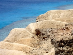 Postal: Playa rocosa