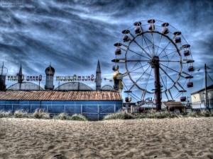Postal: Noria en la playa