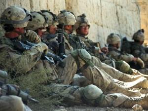 Postal: Soldados descansando