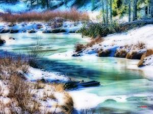 Río invernal