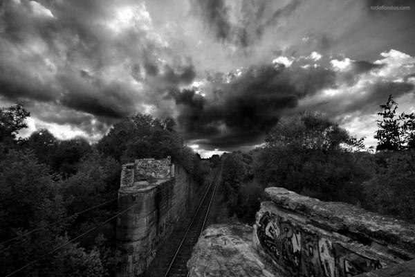 Las vías del ferrocarril