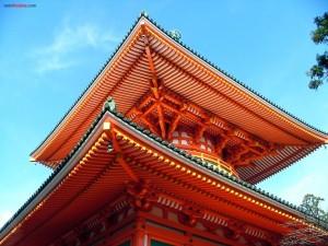 Postal: Tejados de un palacio oriental