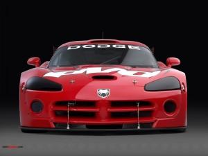 Postal: Dodge deportivo rojo