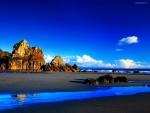 Playa de aguas azules