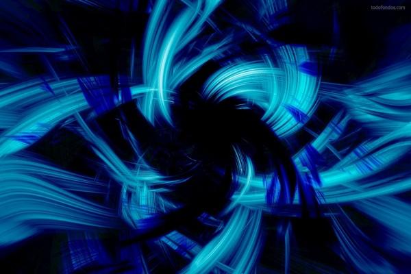 Ráfagas de luz azul