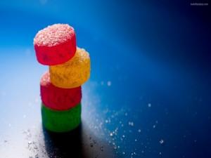 Postal: Torre de caramelos