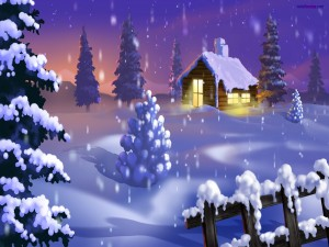 Postal: Paisaje navideño