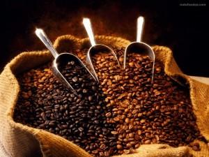 Un saco lleno de granos de café