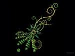 Diseño en trazos verdes