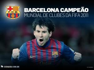 Postal: F.C. Barcelona, campeón del Mundial de Clubes FIFA 2011