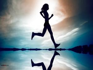 Postal: Chica corriendo