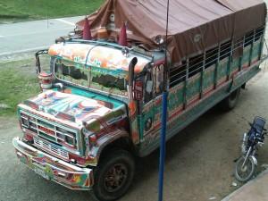 Camión de colores