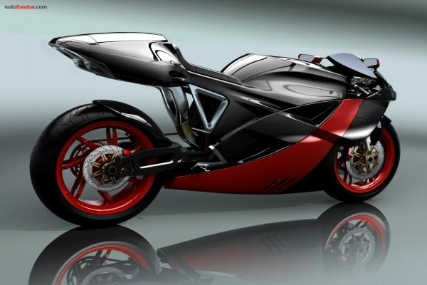 Moto de diseño, negra y roja