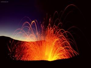 Postal: Explosión volcánica
