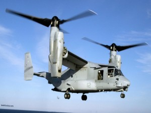 Postal: Helicóptero de doble hélice con alas