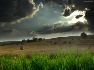 Postal: Nubes negras