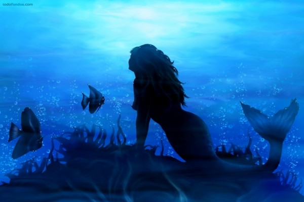 Sirena de aguas azules