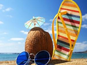 Postal: Vacaciones en la playa