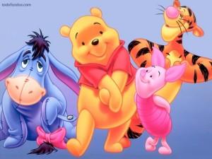 Postal: Winnie the Pooh y sus amigos