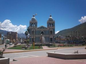 Iglesia de San Sebastián, en la Plaza de Huánuco (Perú)