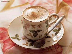 Tacita de café espumoso