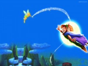 Peter Pan volando