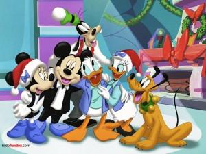 Postal: Parte de la familia Disney