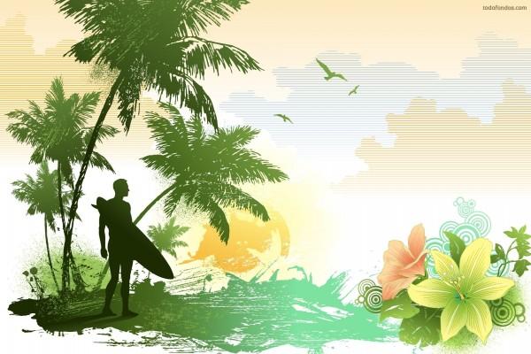 Surfista en el paraiso