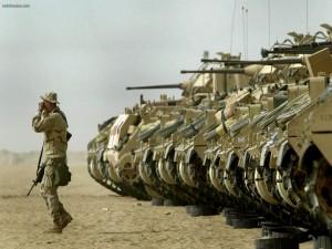 Postal: Escuadrón de tanques