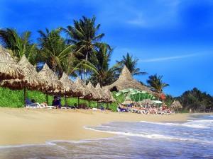 Postal: Turistas en una playa de República Dominicana