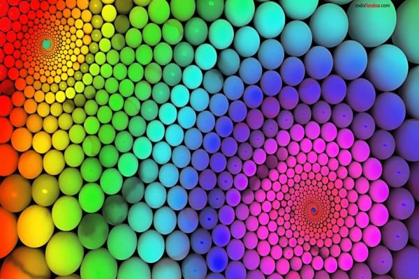 Esferas multicolor