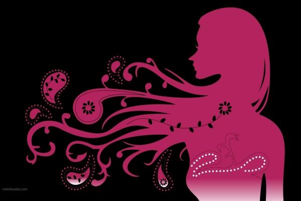 Mujer de rosa