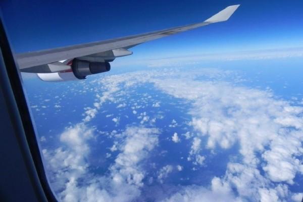 Desde la ventanilla del avión