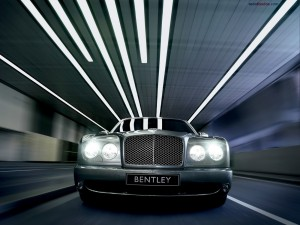 Frontal de un Bentley