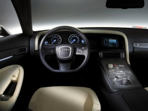 Postal: Interior de un Audi