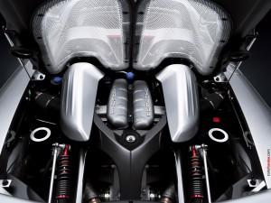 Motor de un Porsche