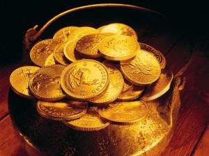 Postal: Monedas de oro