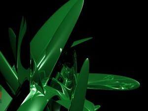 Geometría con un fluido verde