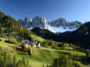 Postal: Paisaje alpino