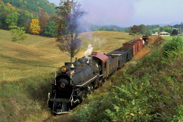 Tren a vapor estadounidense
