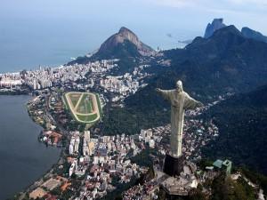 Panorámica de Río de Janeiro con el Cristo del Corcovado