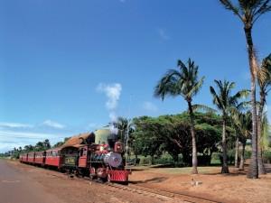 Ferrocarril cerca de la playa