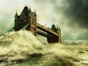 Tempestad bajo el puente