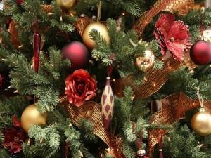 Adornos de un árbol de Navidad