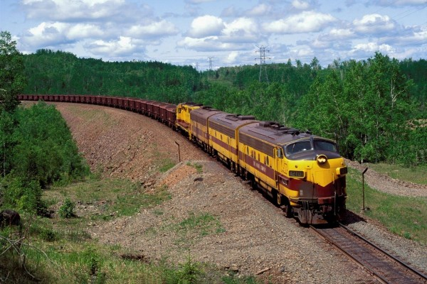 Tren de transporte de mercancías